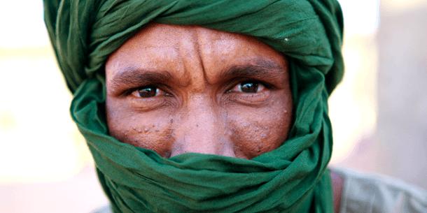Pakolainen leirillä Tundoufin lähellä Algeriassa. Kuva:UN Photo / Martine Perret