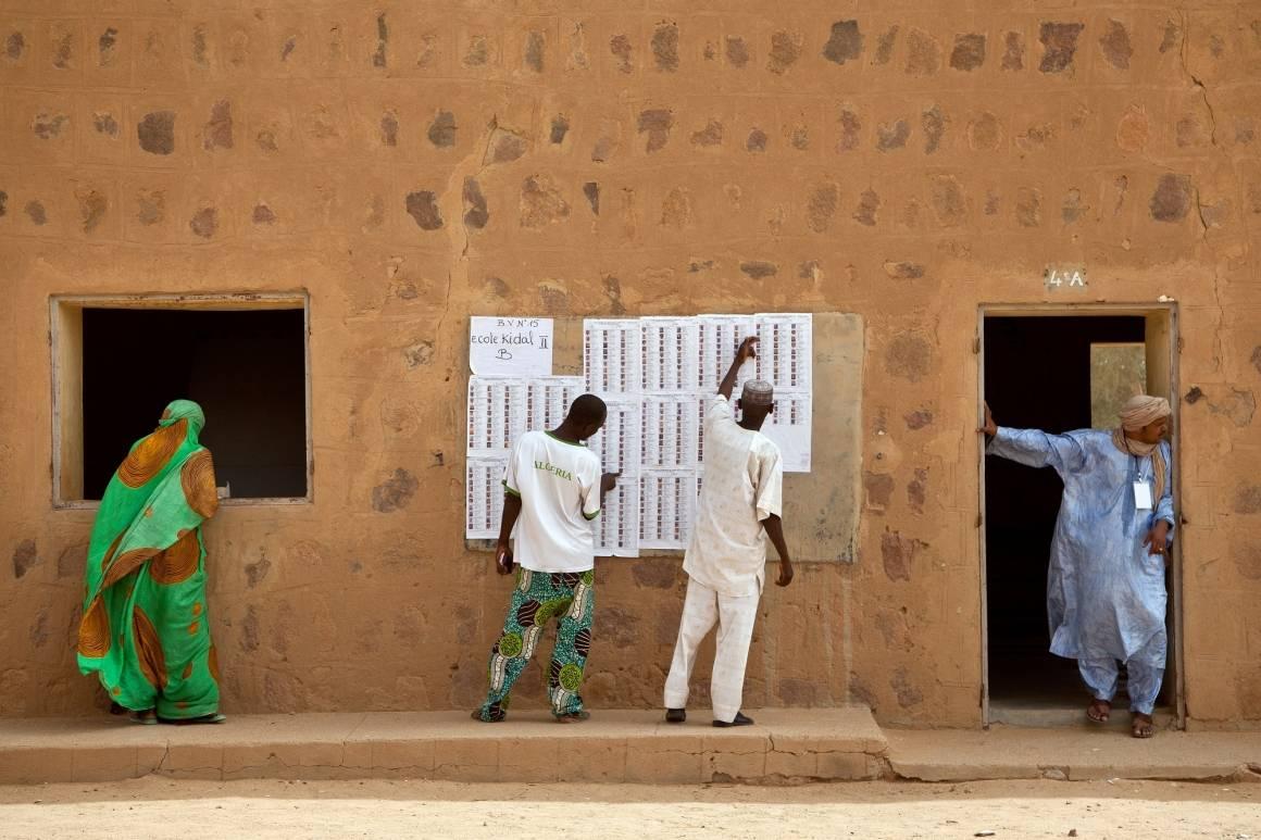 Presidentinvaalit 2013, äänestyspaikka Kidalissa Pohjois-Malissa. Kuva: Blagoje Grujic/Un Photo
