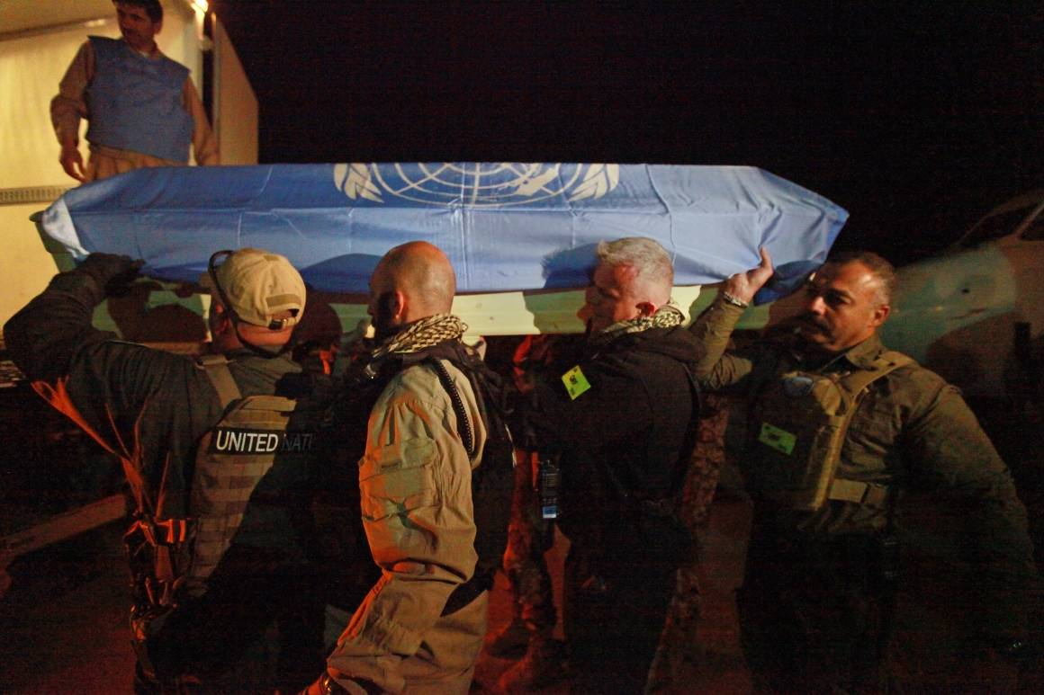 YK:n työntekijöitä sai surmansa huhtikuussa 2011 tehdyssä hyökkäyksessä. Kuva: UN Photo/Eric Kanalstein.