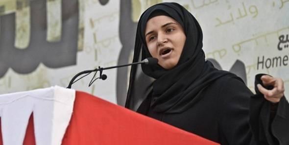 Ayat al-Qurmezi puhuu keskushallintoa vastaan Bahrainissa. Al-Qurmezivangittiin vuonna 2011, mutta kidutuksestakinhuolimatta hän on jatkanut protestointiaan.Hänet palkittiin opiskelijoiden rauhanpalkinnolla Trondheimissa vuonna 2015. Kuva:ISFiT