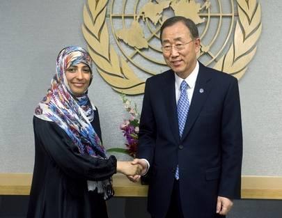 Tawakkul Karman sai Nobelin rauhanpalkinnon vuonna 2011. (UN Photo/Eskinder Debebe)