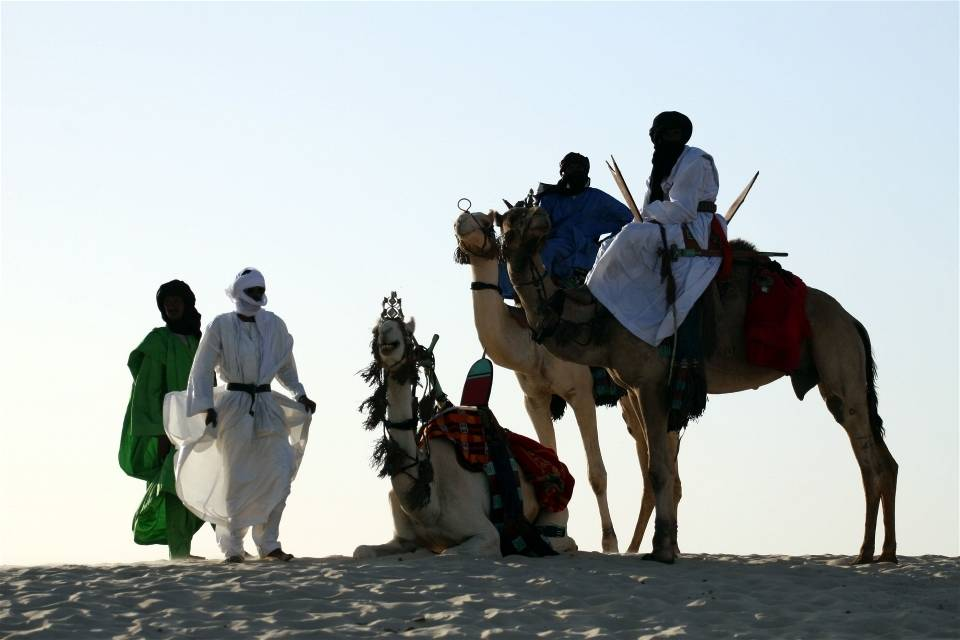 Tuaregeja Timbuktun länsipuolella.Kuva: Tugela Ridley/IRIN Photos