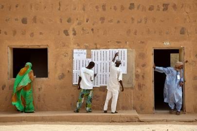 Presidentinvaalit 2013, äänestyspaikka Kidalissa Malin pohjoisosassa.Kuva: Blagoje Grujic/UN Photo