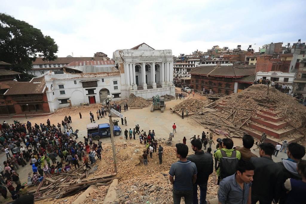 Monet UNESCO:n maailmanperintökohteisiin luettavat alueet Nepalissa kärsivät vuoden 2015 maanjäristyksen aikana. Kuva: Laxmi Prasad Ngakhusi / UNDP Nepal