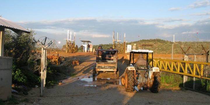 Palestiinalaisten viljelijöiden on haettava lupaa päästä maaperälleen, jos se on Länsirannan erotusesteen väärällä puolella. Luvan saavan on huolehdittava siitä, että noudatetaan maatalousporttien aukioloaikoja. Kuva: Ida Jørgensen Thinn