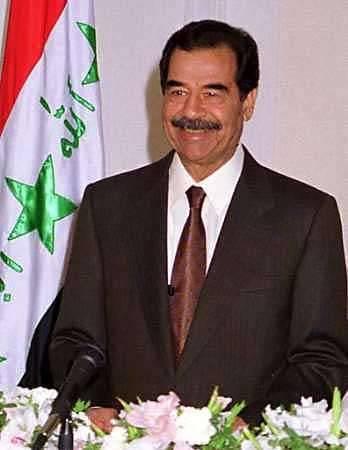 Saddam Hussein toimiIrakin presidenttinä vuodesta 1979 vuoteen 2003. Kuva: Wikimedia Commons.